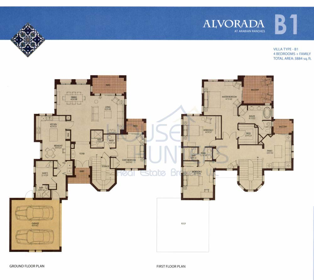 Arabian ranches communities for Types of house plans