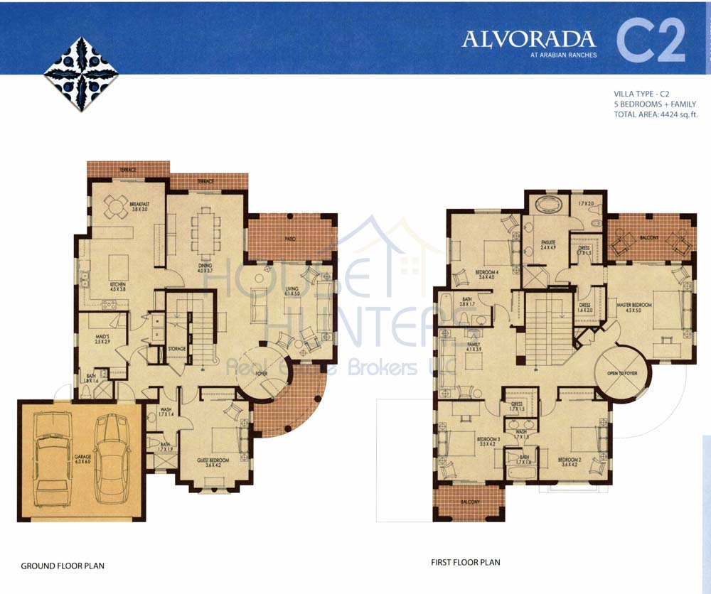 Arabian ranches communities for Villa floor plans