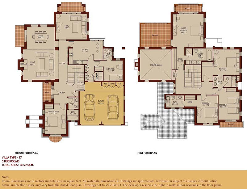 Arabian ranches buyers 39 guide for Dubai house floor plans