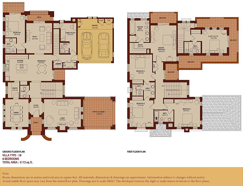 Arabian ranches communities for 4 bedroom villa plans